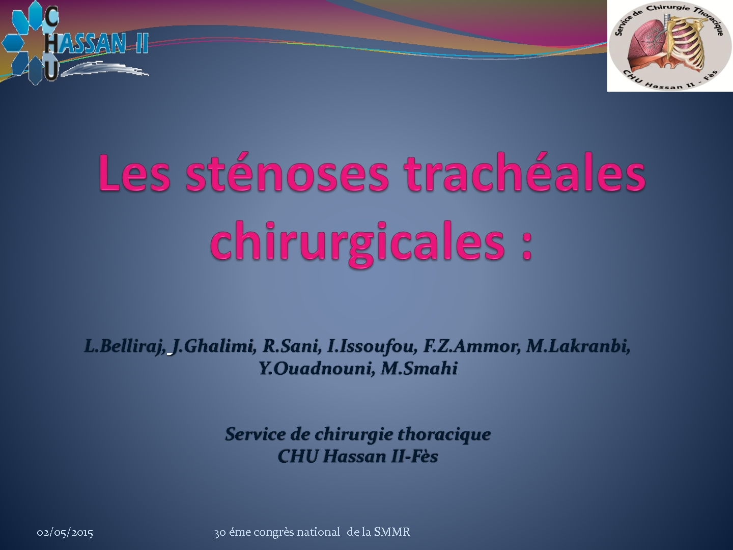 Les sténoses trachéales chirurgicales