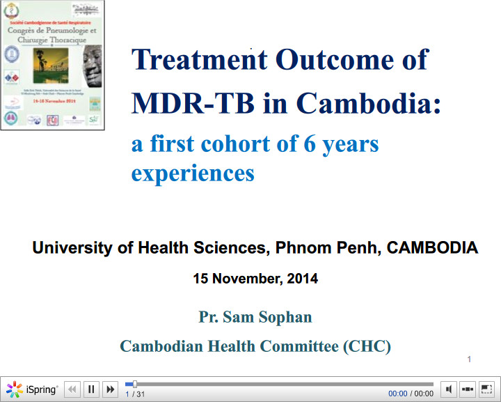 Treatment Outcome of MDR-TB in Cambodia. Sam SEPHAM
